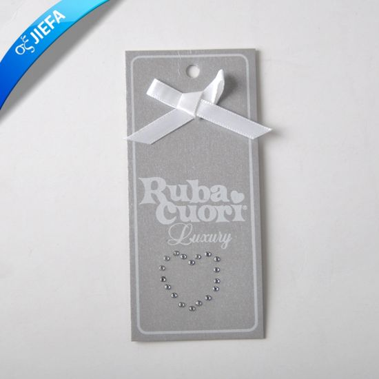 Custom Paper Hang Tag and Kid Clothing Tag pictures & photos