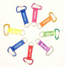 Cheap Custom Carabiner Lanyard Keychains pictures & photos