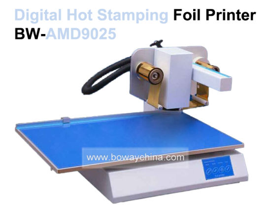 Last Time Printing Memory PVC PU Vinyl Plastic Digital Manual Flatted Hot Stamping Foil Printer Machine pictures & photos