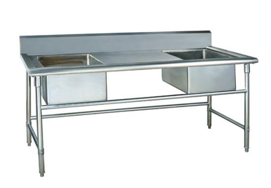 2 Sink Wash Basin Commercial Kitchen Convenientequipment Workbench