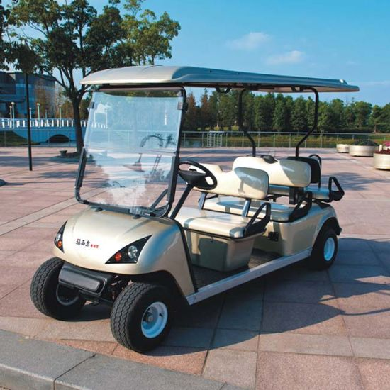 China CE Approve 6 Seater Electric Golf Cart with Back Seat (DG-C4+2 on golf cart accessories rear seats, golf cart front bucket seats, ez go golf cart seats, ezgo golf cart custom seats, ezgo golf cart replacement seats, cheap gas golf carts,