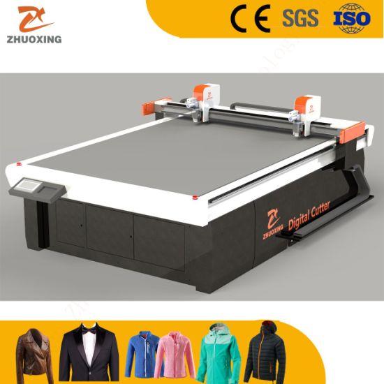 Dual Cutting Heads CNC Digital Fabric Ribs Cutter Machine Textile Cutting Machine in China Jinan Factory Good Price