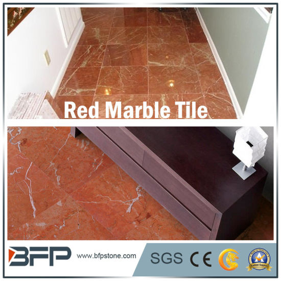 China Red Marble Floor Tile for Lobby/Flooring/Bathroom/Kitchen with ...