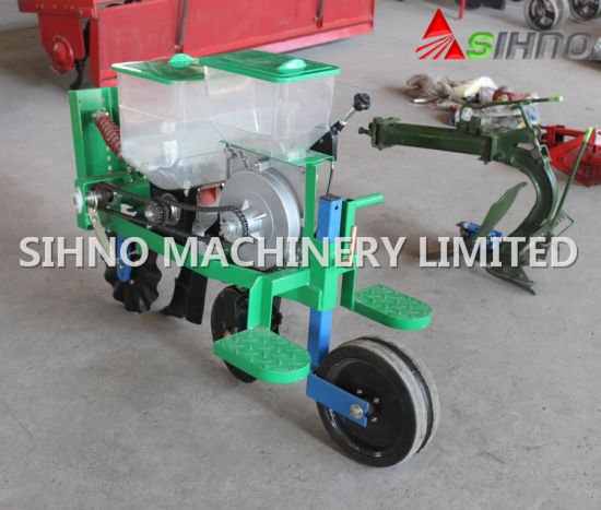 China One Row Walking Tractor Corn Seeder With Fertilizer China