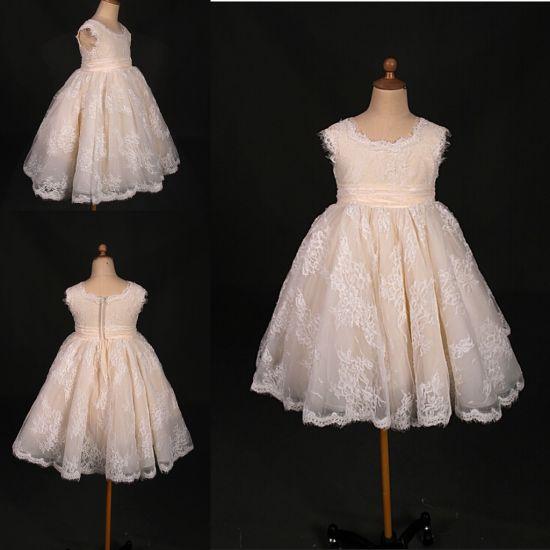 Hot Sale Lace Little Girl Party Evening Dress Wt021