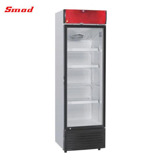 China Single Glass Door Display Beverage Cooler Fridge China