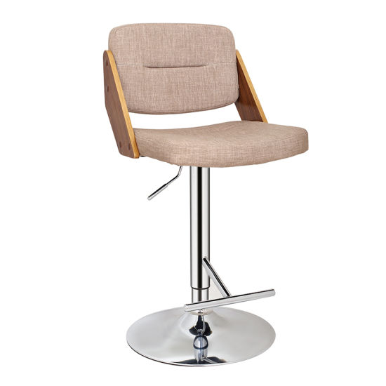 Multicolor Wooden and Fabric Furniture Adjustable Bar Chair (FS-WB1951)
