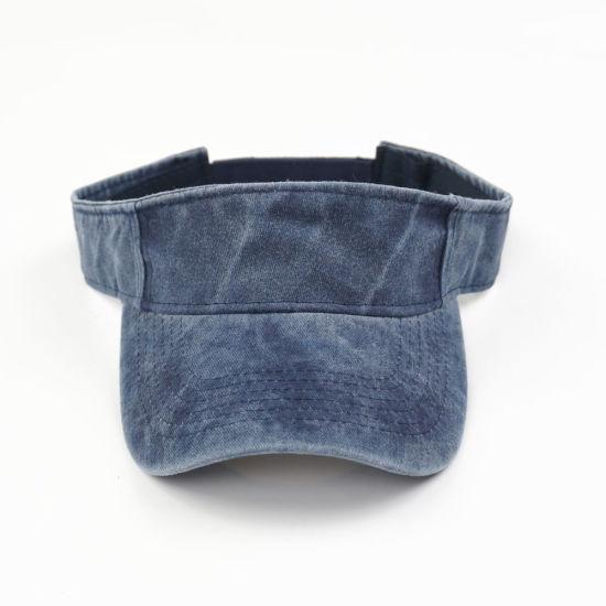 Promotional Visor Cap Hat Customized Washed Cotton Twill