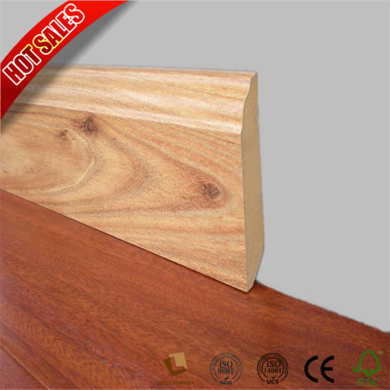 China 12mm Reducer Mdf Skirting Flooring Accessories For Laminate