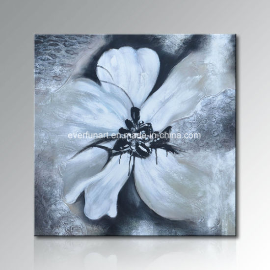 Pure Handmade Modern Flower Oil Painting Hotel (FL3-173) pictures & photos