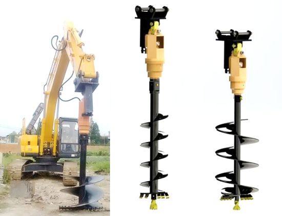 Drilling Holes Machine Excavator Attachments Hydraulic Earth Auger Drives  System