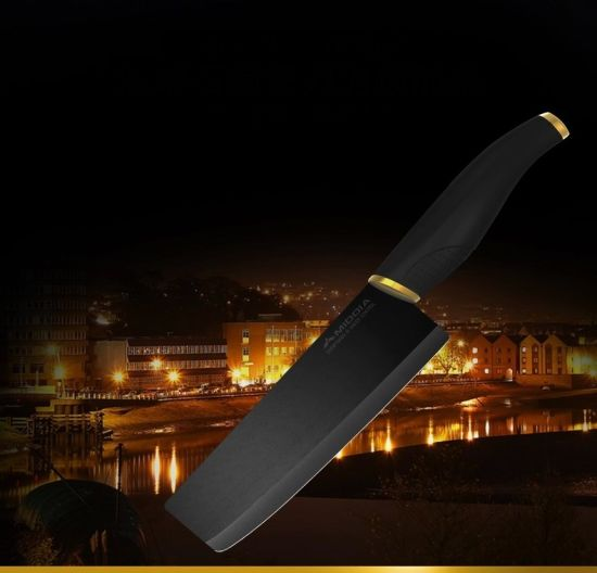 Kitchen Tool Ceramic Cleaver Knife with Black Blade pictures & photos
