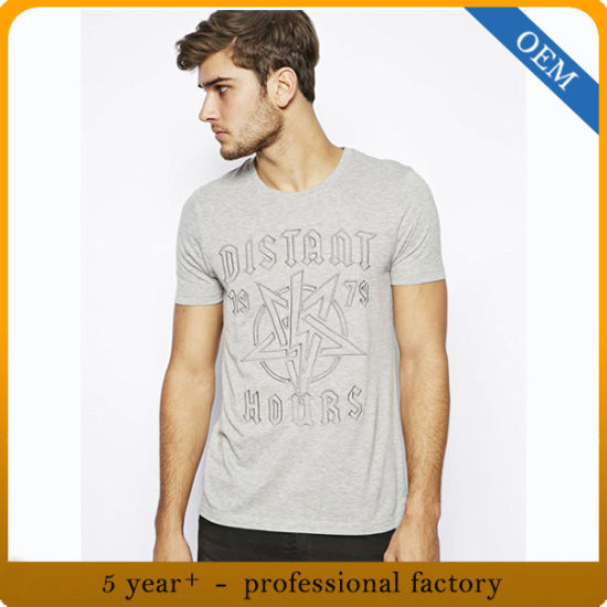 Custom Men′s Fashion Screen Printed T Shirt pictures & photos