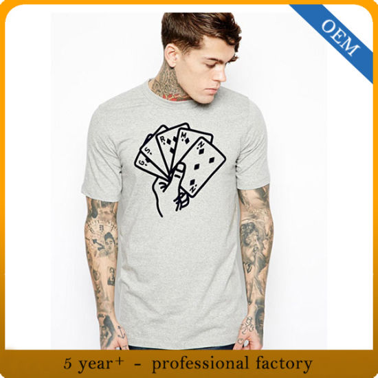 Factory Price Wholesale Men's Cheap Promotional High Quality Cotton Feel Printed T Shirt