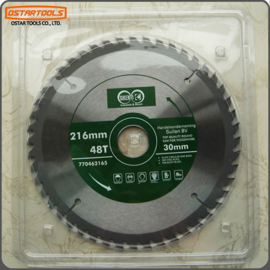 Ostar 216mm Ordinary Circular Tct Saw Blade for Wood Cutting pictures & photos