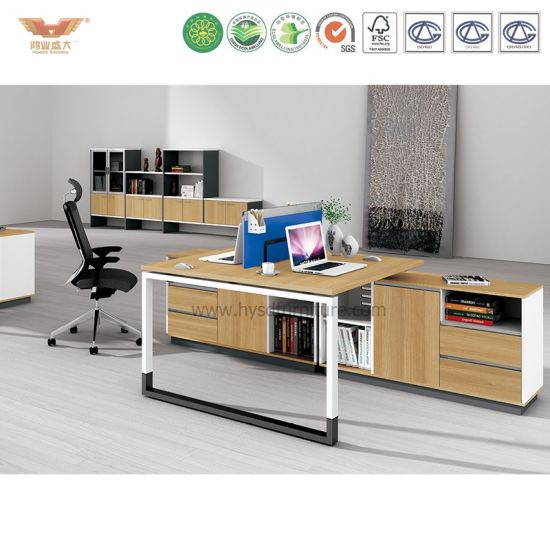 Modern Office Workstation Partition Cubicles with Side Cabinet (H90-0212) pictures & photos