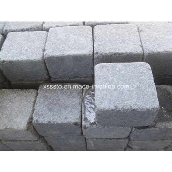 Natural Cube Stone Granite Cobbles for Paving and Flooring