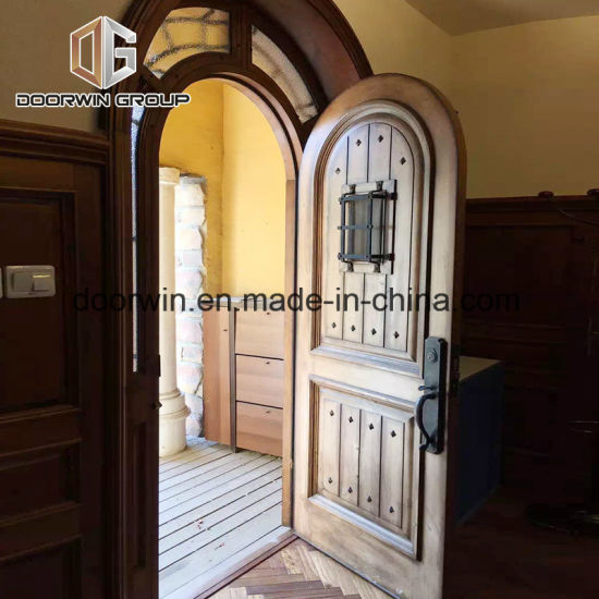 China Rustic Style French Entry Door Operable Speak Easy With Iron