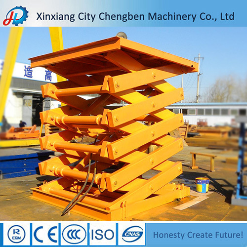 1 Ton Hydraulic Mechanical Lift Table for Cargo Lifting pictures & photos