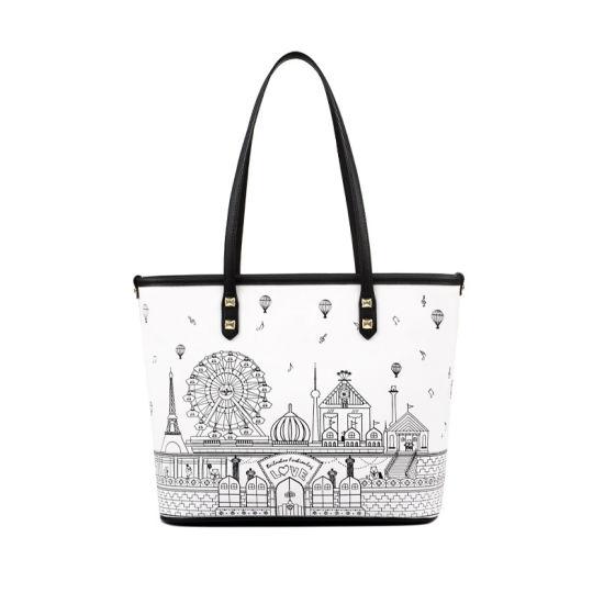 adfd2bc7322d China Unique Doodle Print Tote Bag Ladies Summer PU Handbag WZX1047 ...