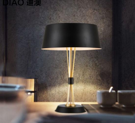 Modern Crystal Table Lamp Desk Light Bedside Side: China So Wonderful Design Gold & Black Modern Reading Desk