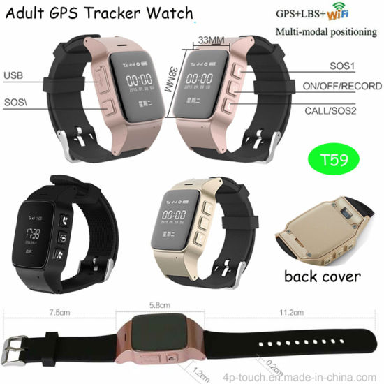 Smart GPS Tracker Watch for Elderly with Sos Button T59 pictures & photos