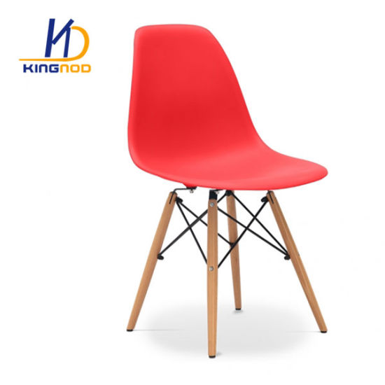 Cheap Beech Wooden Leg Chair PP Plastic Colorful Eames Dining Chair Dsw Dar Chair pictures & photos