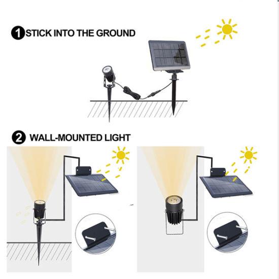 New Design Solar LED Light Lamp with Color LED Light