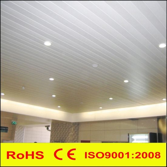 Metal Aluminum Linear C Strip Suspended False Decorative Ceiling