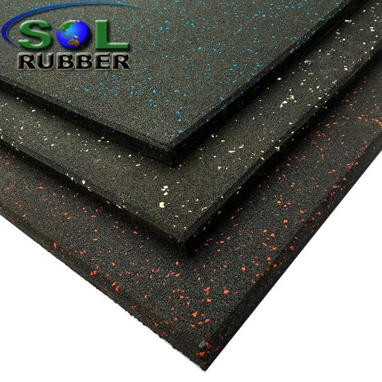 China Heavy Duty Commercial Rubber Gym Floor Tile China Rubber
