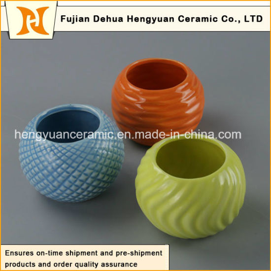 Household Decoration Small Ceramic Flower Pots pictures & photos