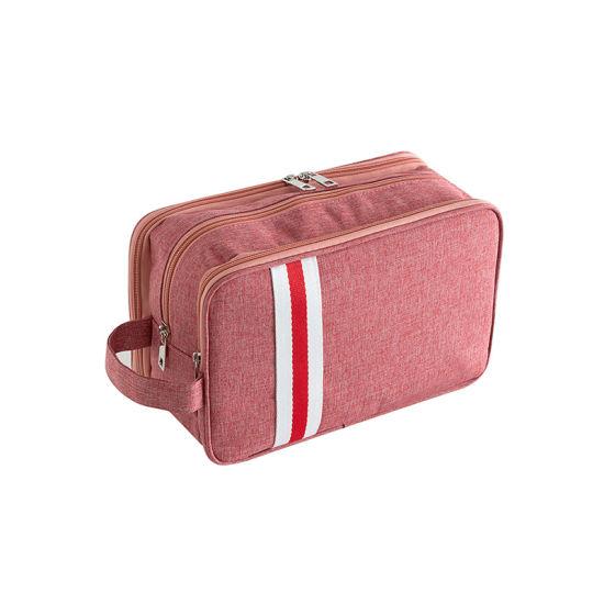 Wholesale Fashion Custom Travel Women Canvas Makeup Cosmetic Bag