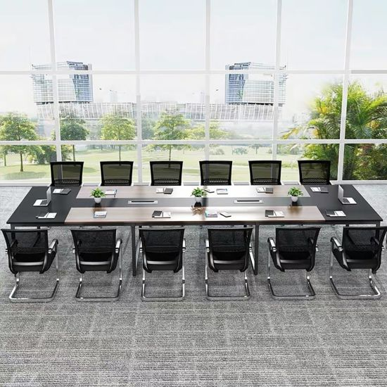 Commercial Furniture Meeting Room Use Oak Grain Office Furniture Table
