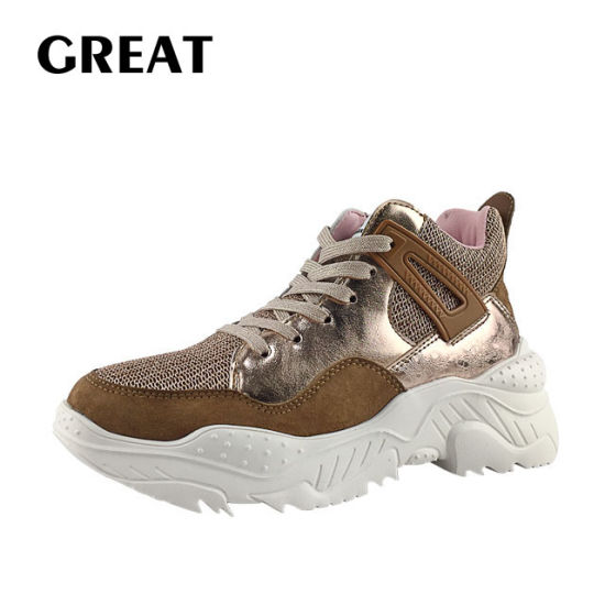 Greatshoe New Arrived Lady Chunky Heel Shoes Woman Sport Ankle Boot Sneaker Fashion Footwear Casual Shoes pictures & photos