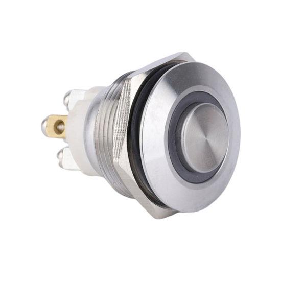 22mm 1no Waterproof Screw Terminal LED Illuminated Push Button Switch