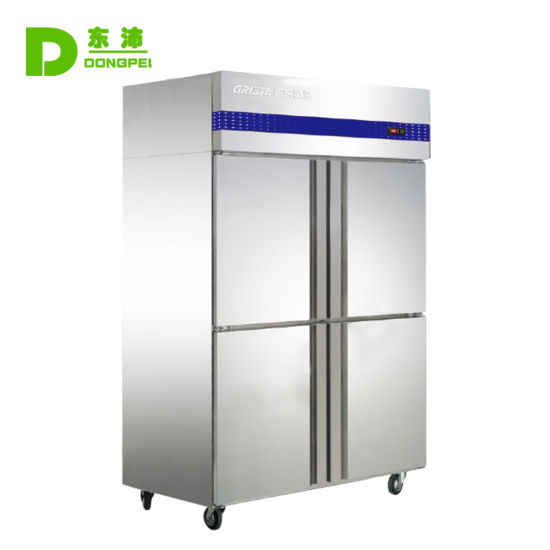 Commercial Big Capacity Static Cooling Refrigerator / Upright Freezer with Ce