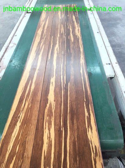China Tongue Groove Tiger Color Waterproof Strand Woven Bamboo
