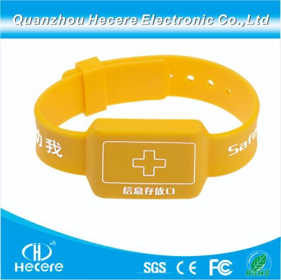 Factory Price 13.56MHz ISO14443A Mf1 S50 RFID Drawer Silicone Wristband