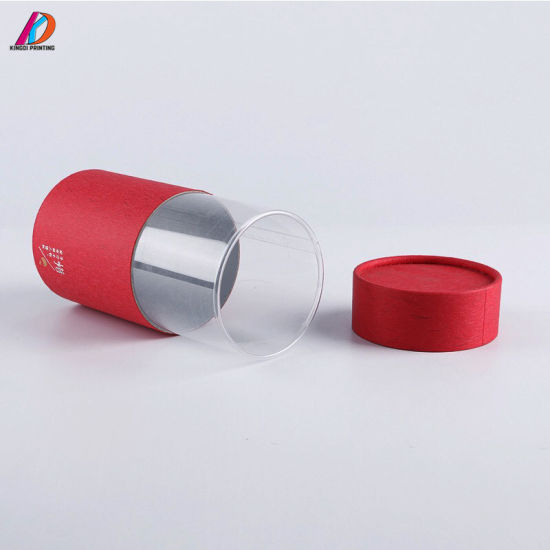 Paper Tube Packaging Box with Clear PVC Window pictures & photos