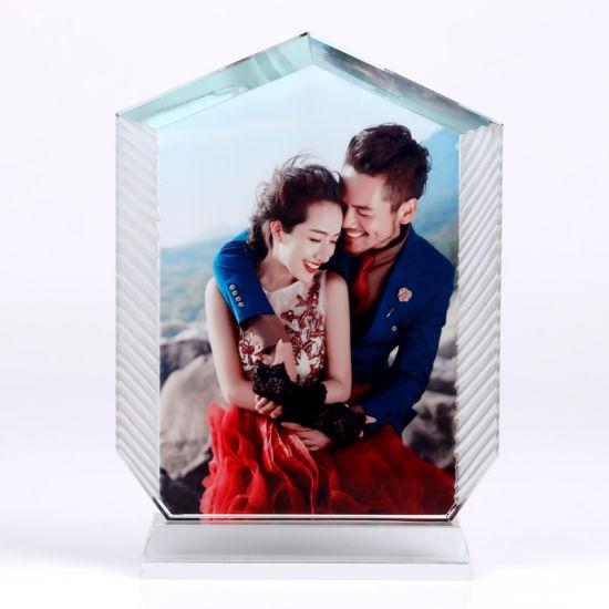 China Wholesale Customed Glass Sublimation Crystal Photo Frame