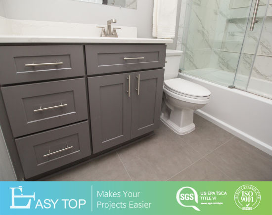 American Style Floor Mounted Plywood/MDF/PVC Bathroom Vanity and Cabinets