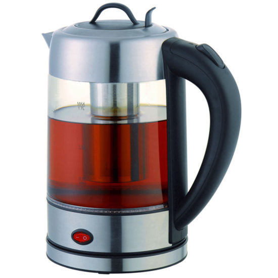 1.7 Liter Keep Warm Glass Electric Kettle with Tea Filter