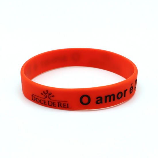 Sport Printing Color Bracelet / Custom Saying Silicone Wristband pictures & photos