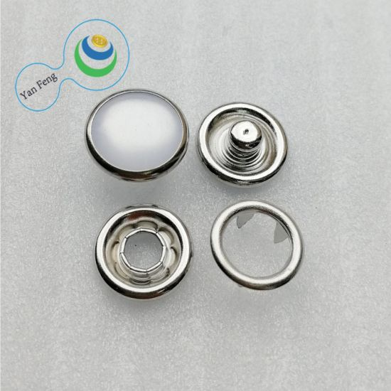 Alloy Metal 4 Parts Pearl Prong Snap Button for Shirt/Clothing/Jeans Accessories (YF278-19)
