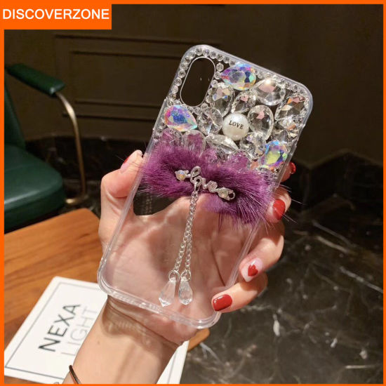 Tassel Diamonds Phone Case for Lady Cell Phone Cover for Mobile Phone Accessories
