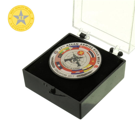 Gold Plating Soft Enamel and Printing Custom Souvenir Coin pictures & photos