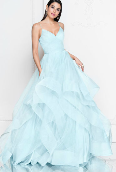 Champagne Tulle Prom Party Cocktail Dresses Wine Blue Celebrity Ball Gown E52711 pictures & photos