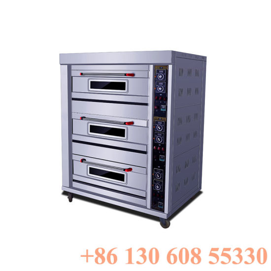 Professional Catering Bakery Machine 3layers 6trays Electric Oven Price