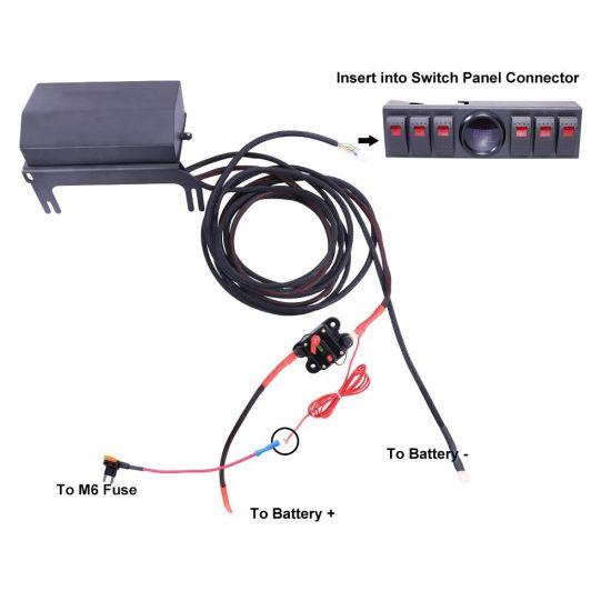 China 6 Rocker Switch Panel Wiring Kit Control Relay Box Assemblies China 6 Rocker Switch Pod Panel Wiring Kit Panel