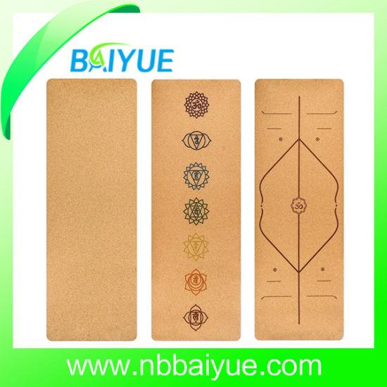 100% Natural Rubber Colorful Wholesale Cork Yoga Mat
